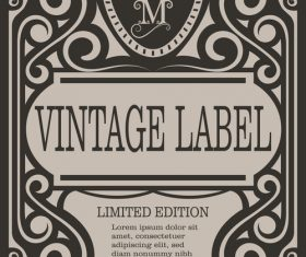 Vintage with retro labels template vectors 08