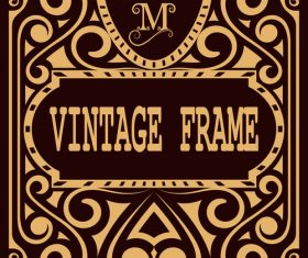 Vintage with retro labels template vectors 09