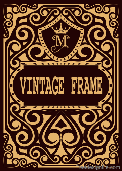 Vintage with retro labels template vectors 09 free download