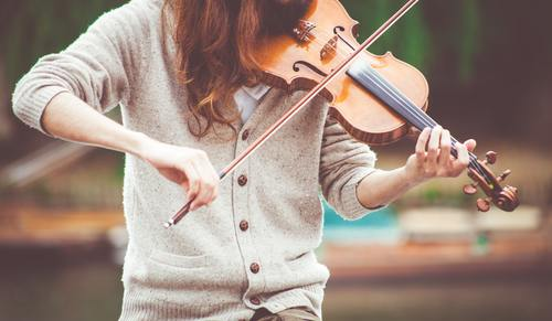 Violinist character close up photography Stock Photo