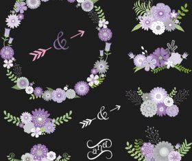 Wedding decor illustration vectors 02
