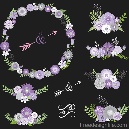 Wedding decor illustration vectors 02