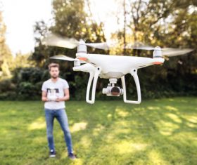 Wireless control Quadrocopter Stock Photo 02