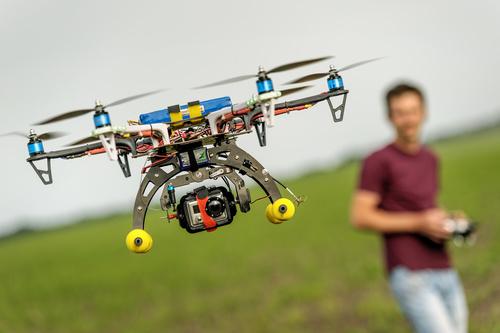 Wireless control Quadrocopter Stock Photo 05