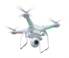Wireless control Quadrocopter Stock Photo 06