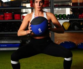 Woman fitness in the gym Stock Photo 01