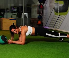 Woman fitness in the gym Stock Photo 03