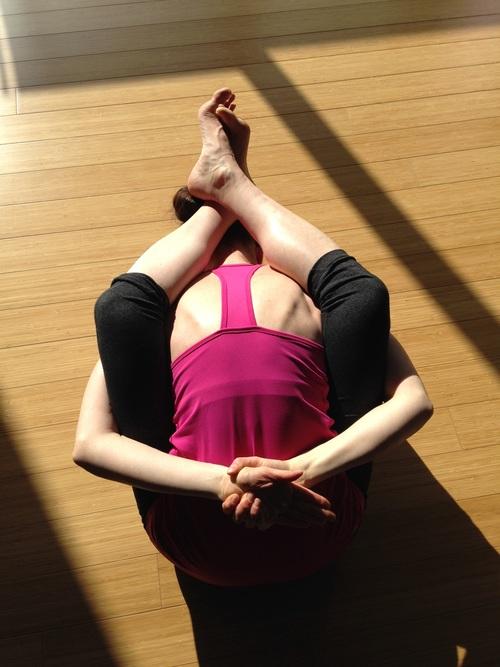 Woman practicing yoga indoors Stock Photo 03