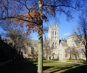 Yale University Architecture Stock Photo