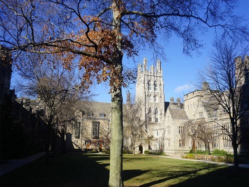 Yale University Architecture Stock Photo
