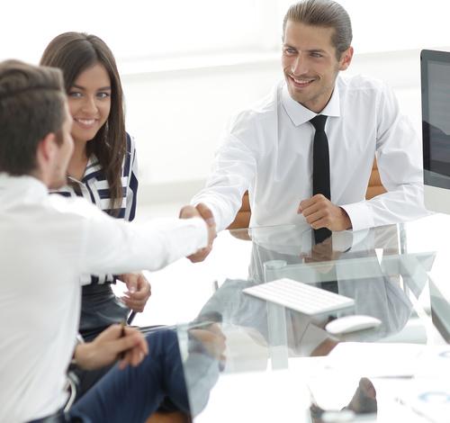 business partnership and handshake Stock Photo 03