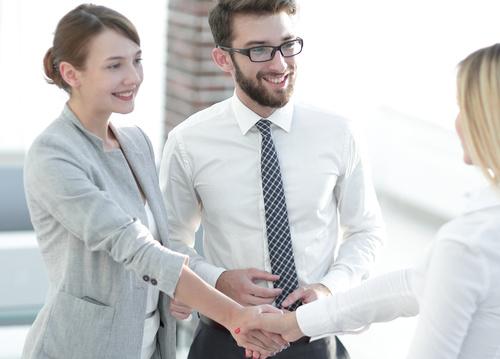 business partnership and handshake Stock Photo 04