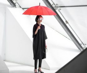 hold up an umbrella people Stock Photo 05
