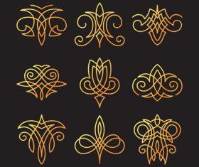linear elements ornaments vector