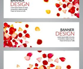 petal styles banners vector