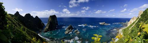 sky coast rock horizon seawater Stock Photo