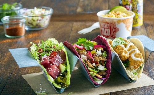 vegetables taco Stock Photo