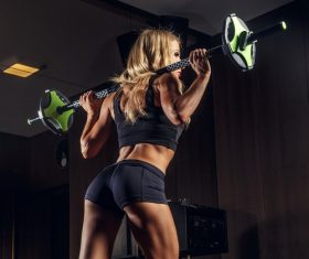 women weightlifting Stock Photo