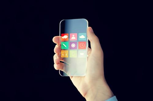 Сlose up app on smartphone Stock Photo 03