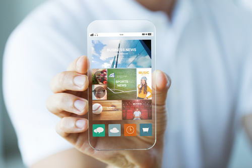 Сlose up app on smartphone Stock Photo 04