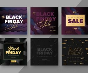 6 Kind black friday sale background vector