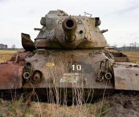 Abandoned tank Stock Photo