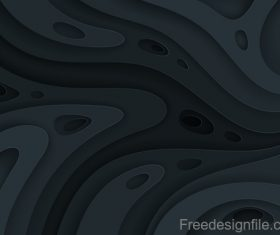 Abstract black layered background design vector 01