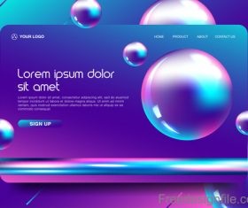 Abstract colorful website background template vector 01