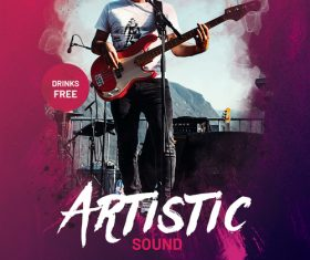 Artistic Sound Event Party Flyer PSD template