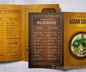 Asian Cuisine Food Menu Bundle PSD Template
