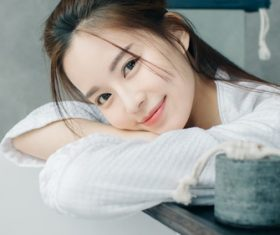 Asian girl sweet smile Stock Photo