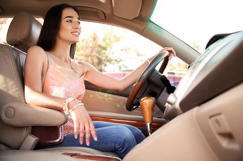 Beautiful woman driving Stock Photo 01