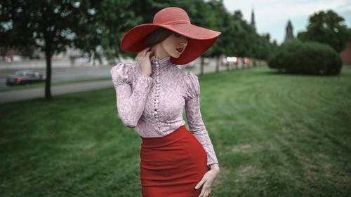 Beautiful women model photography Stock Photo 02