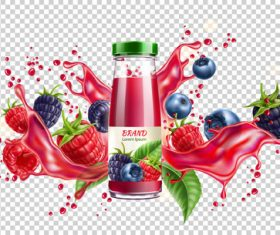 Berry juice splash vector illustration