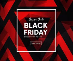 Black Friday Super sale poster template vector