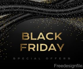 Black Friday special offer background black vector