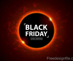 Black Friday start shopping design vector