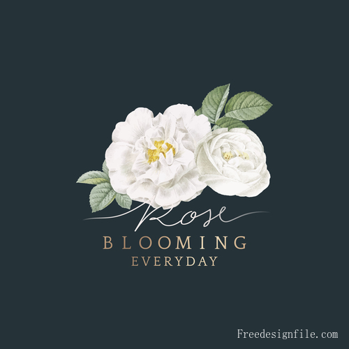 Blooming white flower illustration vector
