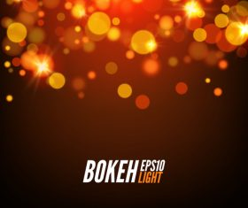 Bokeh bright effect background vector 08
