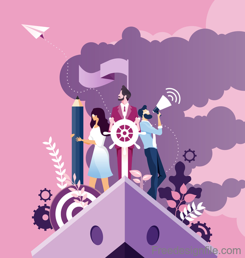 Business improvement and development concept vector
