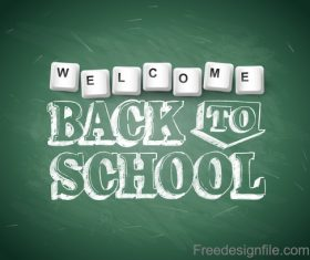 Chalkboard text with back to school design vector