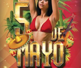 Cinco de Mayo Party Flyer PSD Template