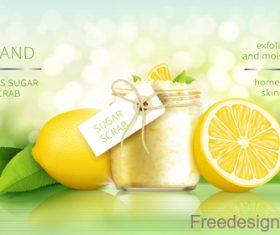 Citrus sugar scrab poster template vector
