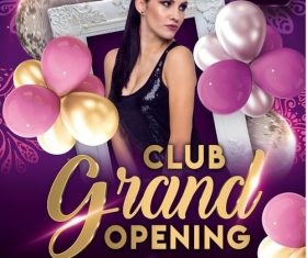 Club Grand Opening Party Flyer PSD Template