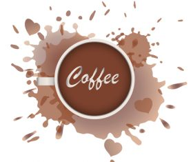 Coffee circle with stain vector