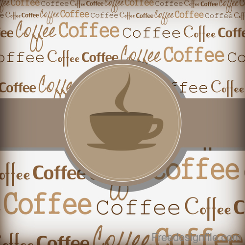 Coffee cover background vector design 01
