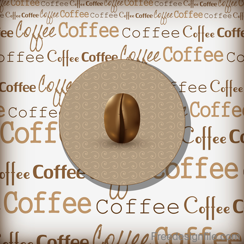 Coffee cover background vector design 02