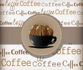 Coffee cover background vector design 03
