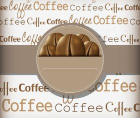 Coffee cover background vector design 04