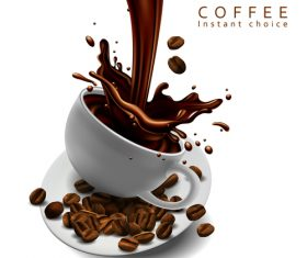 Coffee desserts illustration vector